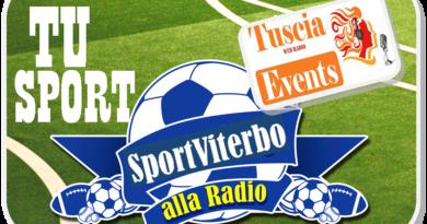 OGGI, ALLE ORE 14, LO SPORT SU RADIO TUSCIA EVENTS